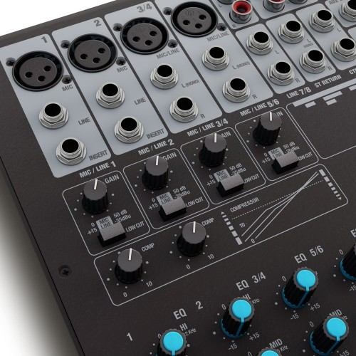 VIBZ8DC 8-channel mixing console with DFX and compressor LD-Systems