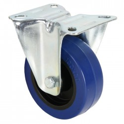 372141 Fixed castor 100 mm with blue wheel
