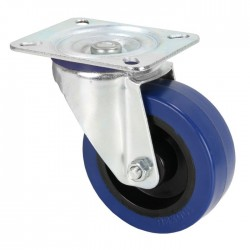 372151 Swivel Castor 100 mm with blue Wheel w/o brake