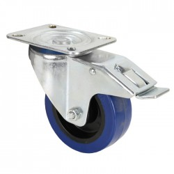 372191 swivel castor 100 mm with blue wheel and brake
