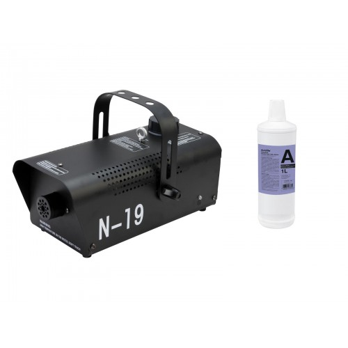 EUROLITE Set N-19 Smoke machine black + A2D Action smoke fluid 1l