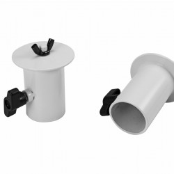 OMNITRONIC BOB-4 Stand Adaptor white or black 2x, for 35 mm tube