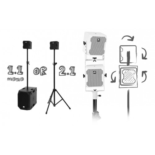 OMNITRONIC BOB4.1 Set, 1xBOB-10A wh + 4xBOB-4 wh, with DSP and Bluetooth