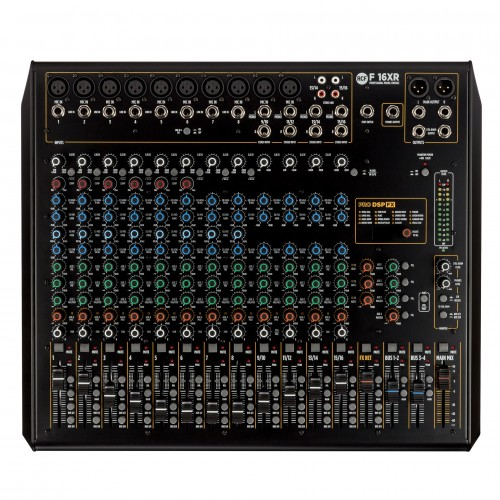 F 16XR 16-CHANNEL MIXING CONSOLE WITH MULTI-FX & RECORDING