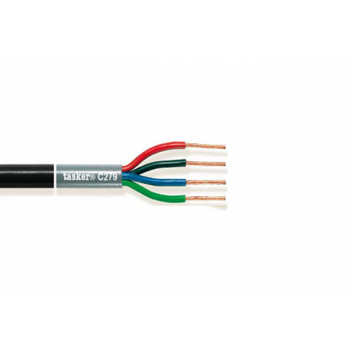 C279 – 4x4.00 mm² O.F.C. Loudspeakers Cable Tasker 12 AWG