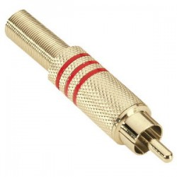 7623 RED - RCA Plug gold-plated red