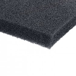 019512  Speaker front foam black 12mm