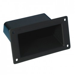 3401 Insert Handle plastic black Cutout 49 x 104 mm