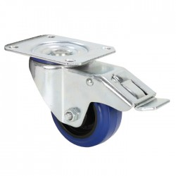 372091 - Swivel Castor 80 mm blue wheel with Brake