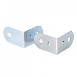 4040 corner brace 19x30 chrome-plated