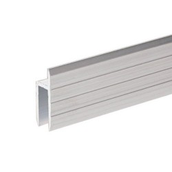 6126 aluminium profile 28mm h-section for 7mm rack doors