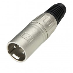7899 XLR plug for microphone cable male silver