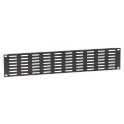 87222 VH 19 inch ventilation rack panel with horizontal slots, 2U