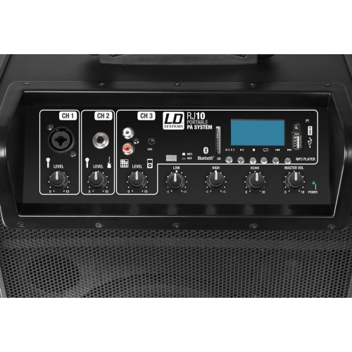 LD Systems Roadjack-10 Battery Powered Bluetooth Loudspeaker with Mixer