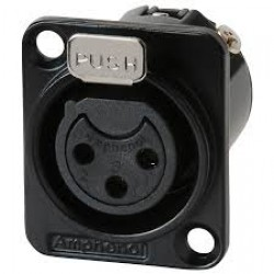 AC3FDZB Amphenol XLR 3-pole female black