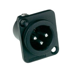 AC3MDZB Amphenol XLR 3 pole male black