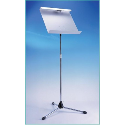 0717 Moreschi music stand with aluminum table with lamp built-in