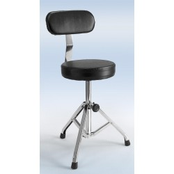 1406 Moreschi drummer's stool with back support