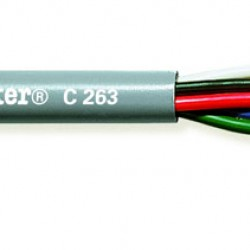 C263 tasker 5x0.08 mm²  - 28 AWG - 75 Ohm Multi-Video Mini-Coax cable R.G.B.+H.V.
