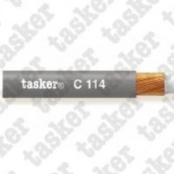 C114-white Balanced microphone-cable Tasker 2x0.25 mmq - 23 AWG
